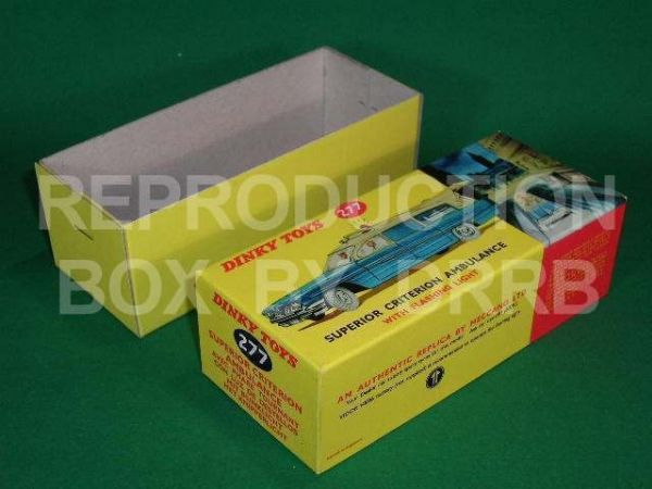 Dinky #277 Superior Criterion Ambulance - Reproduction Box